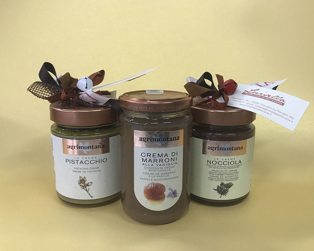 pistacchio, nocciola e crema di marroni